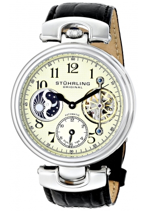 Stuhrling Original Men's Special Reserve Emperor Dual Time Black Watch