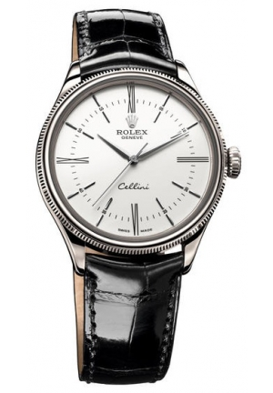 Cellini Time White Gold White Lacquer Dial , 50509 39mm
