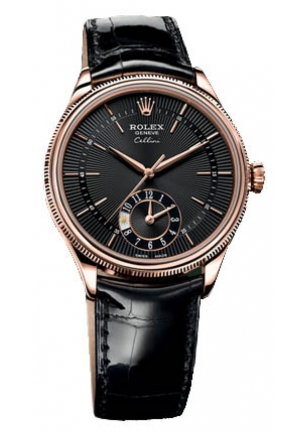 Cellini Date black dial and black leather, 50525 bkbk 39mm