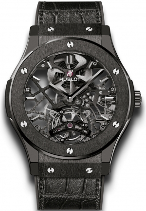 HUBLOT Classic Fusion Skeleton Tourbillon All Black 45mm