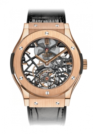 HUBLOT Classic Fusion Skeleton Tourbillon King Gold 45mm