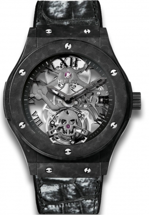 HUBLOT Classic Fusion TOURBILLON BLACK SKULL 45mm