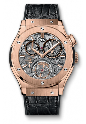 TOURBILLON SKELETON KING GOLD 18 CARAT KING GOLD MEN'S WATCH 506.OX.0180.LR, 45MM