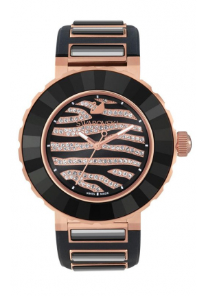 OCTEA SPORT ZEBRA ROSE GOLD TONE WATCH 39MM