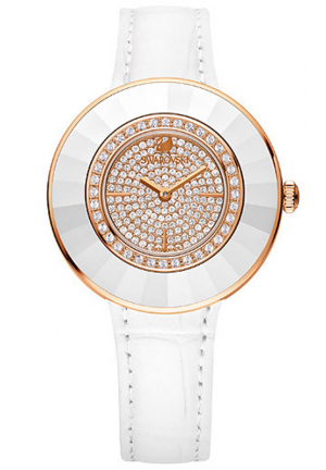 OCTEA DRESSY WHITE ROSE GOLD TONE WATCH 36 MM