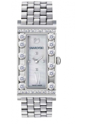 LOVELY CRYSTALS SQUARE WHITE WATCH 21×33MM