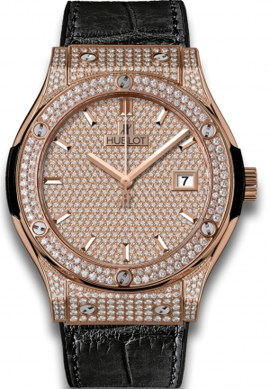 HUBLOT Classic Fusion King Gold Full Pav� 45mm