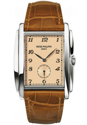 Gondolo Manua Vintage Rose Dial Leather Mens Watch , 33.4 mm x 43 mm