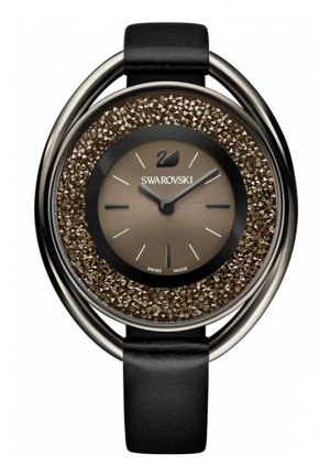 SWAROVSKI CRYSTALLINE OVAL BLACK-TONE LADIES WATCH 37MM 5158517