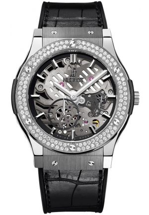 HUBLOT Classic Fusion Classico Ultra-Thin Titanium Diamonds 45mm