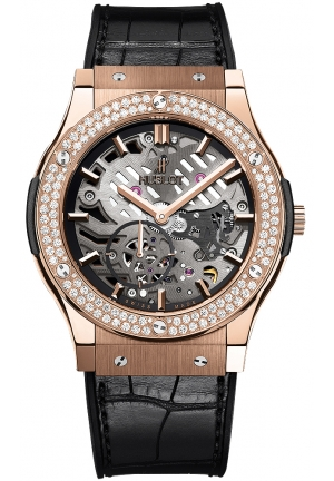 HUBLOT Classic Fusion Classico Ultra-Thin King Gold Diamonds 45mm