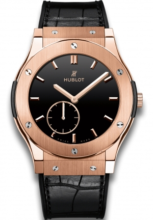HUBLOT Classic Fusion Classico Ultra-Thin King Gold Black Shiny Dial 45mm