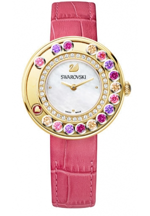 LOVELY CRYSTALS BERRY PINK WATCH 35MM