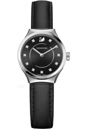 DREAMY BLACK LEATHER WATCH 28MM