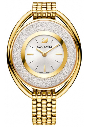 CRYSTALLINE OVAL GOLD TONE BRACELET WATCH 37×43 MM 5200339