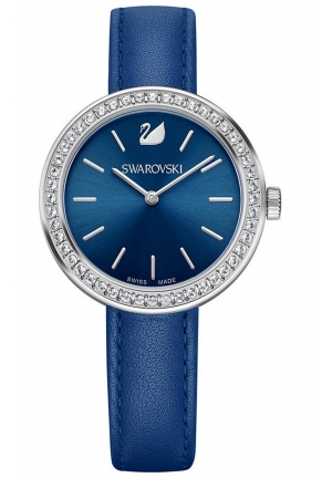 DAYTIME BLUE LEATHER LADIES WATCH 34MM