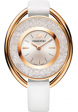 CRYSTALLINE OVAL WHITE TONE WATCH 37MM 5230946