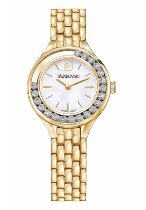 LOVELY CRYSTALS MINI WATCH, GOLD TONE 31MM