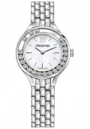LOVELY CRYSTALS MINI WATCH, SILVER TONE 31MM