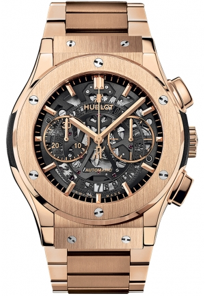 HUBLOT Classic Fusion Aero Chrono King Gold Bracelet 45mm