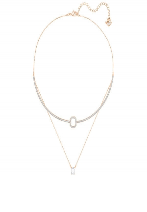 GALLERY SQUARE LAYERED NECKLACE, WHITE 5265447