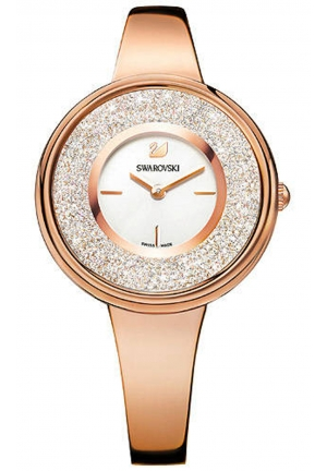 CRYSTALLINE PURE ROSE GOLD TONE WATCH 34MM