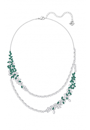 GARDEN LAYERED NECKLACE, LARGE, GREEN 5279135