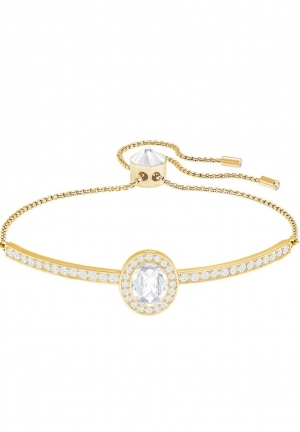 GENTLY OVAL BANGLE, WHITE 5279315