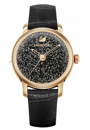 Swarovski Crystalline Hours Watch, Black  38mm