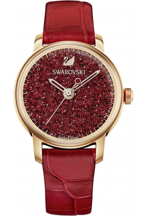 Swarovski Crystalline Hours Watch Red 38mm