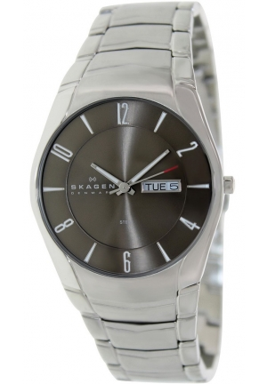 Skagen Mens Watch with Silver Stainless Steel Bracelet and Silver Dial