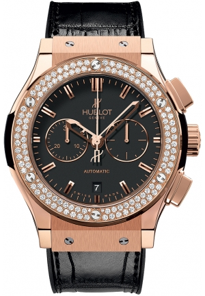 HUBLOT Classic Fusion Chronograph King Gold Diamonds 42mm