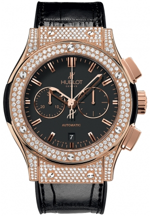 HUBLOT Classic Fusion Chronograph King Gold Pav� 42mm