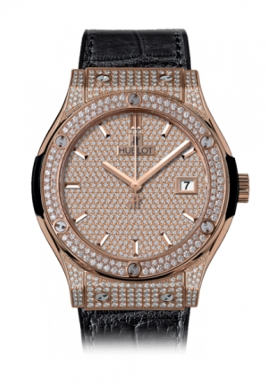 HUBLOT Classic Fusion King Gold Full Pavé 42mm