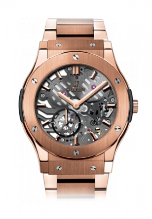 HUBLOT Classic Fusion Classico Ultra-thin skeleton King Gold Bracelet 42mm