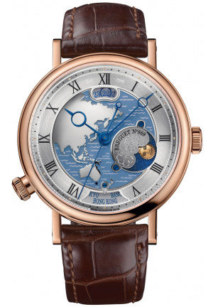 BREGUET CLASSIQUE HORA MUNDI MEN'S WATCH 5717BR/AS/9ZU, 43MM