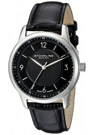 Stuhrling Original Men's Classique Analog Display Quartz Black Watch