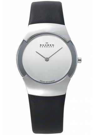 Skagen Women's Swiss Black Leather Watch
