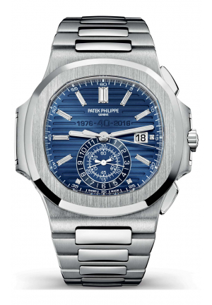 PATEK PHILIPPE NAUTILUS 40TH ANNIVERSARY 5976/1G 18K WHITE GOLD WATCH, 44MM