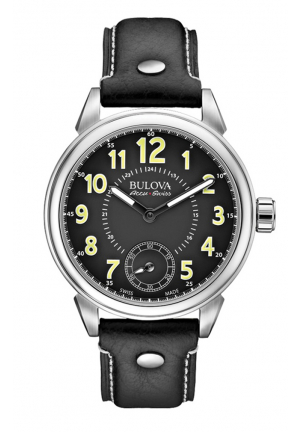 GEMINI COLLECTION MECHANICAL BLACK LEATHER , 42 MM