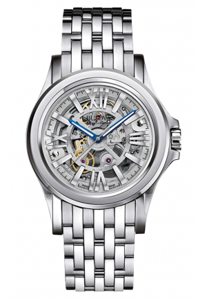 Bulova Accu·Swiss KIRKWOOD COLLECTION AUTOMATIC STAINLESS STEEL BRACELET WATCH , 40MM 63A123