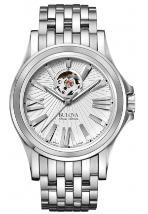 Bulova Accu·Swiss KIRKWOOD COLLECTION SELF-WINDING STAINLESS STEEL WATCH , 40MM 63A125