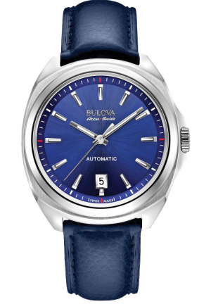TELC COLLECTION ANALOG DISPLAY MECHANICAL HAND WIND BLUE WATCH , 42MM 63B185