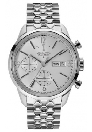 MURREN COLLECTION AUTO CHRONO SS SILVER-TONE DIAL , 41MM 63C118