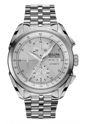 Bulova Accu·Swiss TELLARO COLLECTION ANALOG DISPLAY MECHANICAL HAND WIND SILVER WATCH , 42.5MM 63C120