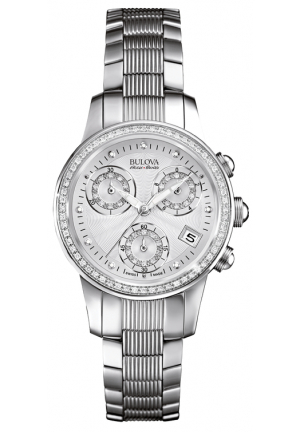 Bulova Accu·Swiss MASELLA COLLECTION ANALOG DISPLAY QUARTZ SILVER WATCH , 31MM 63R141