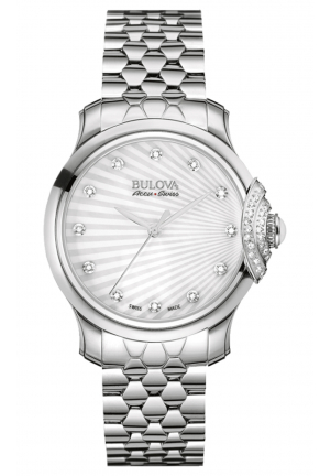 BELLECOMBE ANALOG DISPLAY QUARTZ SILVER WATCH , 34MM 63R147