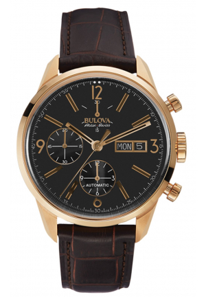 MURREN COLLECTION BROWN LEATHER STRAP WATCH , 41MM 64C106