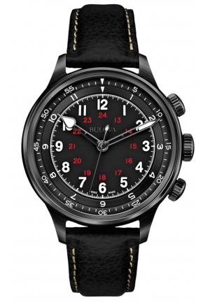 A-15 COLLECTION ANALOG DISPLAY MECHANICAL HAND WIND BLACK WATCH , 40MM 65A107