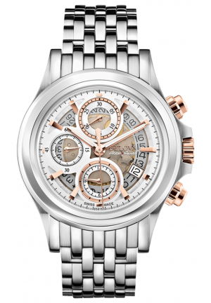 KIRKWOOD COLLECTION ANALOG DISPLAY AUTOMATIC SELF WIND SILVER WATCH , 42MM